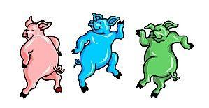 cerditos-bailando