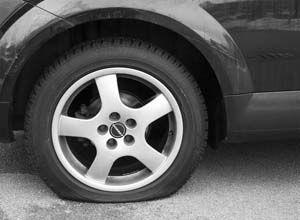 Como saber si una rueda esta pinchada o desinflada