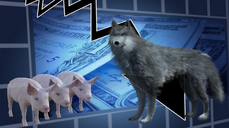 los tres cerditos y el lobo feroz de la crisis