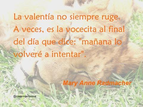 Cita Mary Anne Radmacher